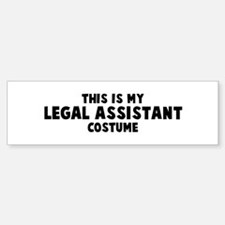 Legal Assistant costume Bumper Bumper Bumper Sticker