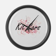 Kit Cars Artistic Design with Flo Large Wall Clock