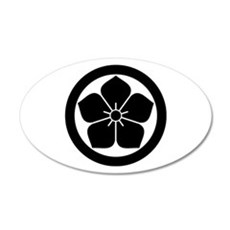 Balloonflower in circle Wall Decal