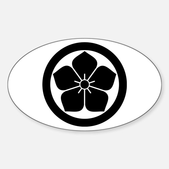 Balloonflower in circle Decal