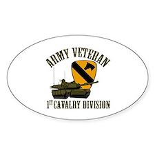 1ST Cavalry Division Veteran Decal