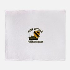 1ST Cavalry Division Veteran Throw Blanket
