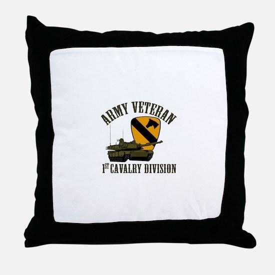 1ST Cavalry Division Veteran Throw Pillow