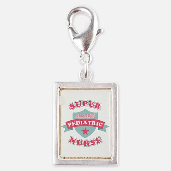 Super Pediatric Nurse Silver Portrait Charm
