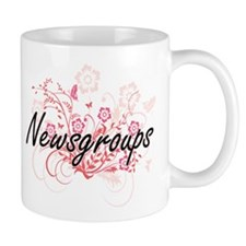 Newsgroups Artistic Design with Flowers Mugs