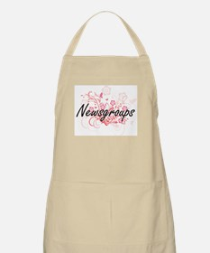 Newsgroups Artistic Design with Flowers Apron