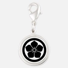 Balloonflower in circle Charms