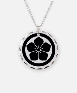 Balloonflower in circle Necklace