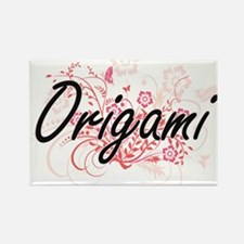 Origami Artistic Design with Flowers Magnets