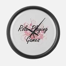 Role-Playing Games Artistic Desig Large Wall Clock