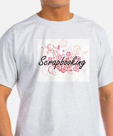 Scrapbooking Artistic Design with Flowers T-Shirt