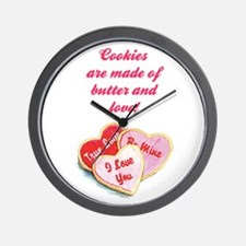 BUTTER AND LOVE Wall Clock