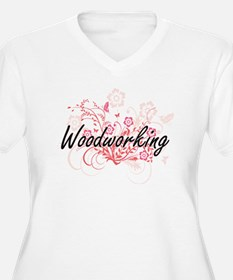 Woodworking Artistic Design with Plus Size T-Shirt