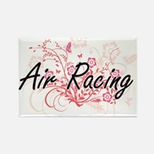 Air Racing Artistic Design with Flowers Magnets