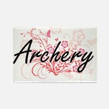 Archery Artistic Design with Flowers Magnets