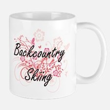 Backcountry Skiing Artistic Design with Flowe Mugs
