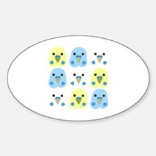 Funny Chibi animal Sticker (Oval)