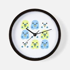 Unique Blue parakeet Wall Clock