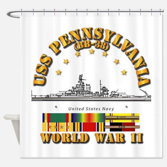 USS Pennsylvania (BB-38) Shower Curtain