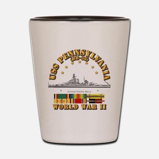 USS Pennsylvania (BB-38) Shot Glass