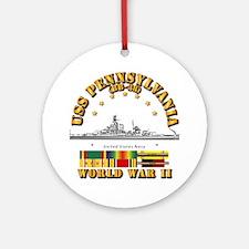 USS Pennsylvania (BB-38) Round Ornament
