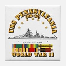 USS Pennsylvania (BB-38) Tile Coaster