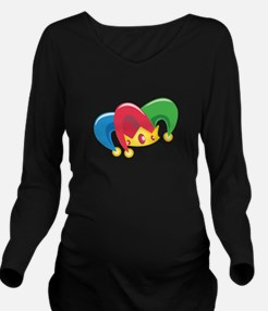 Jester Hat Long Sleeve Maternity T-Shirt