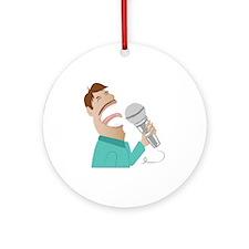 Karaoke Man Round Ornament