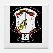 Kenpo Karate Crest Tile Coaster