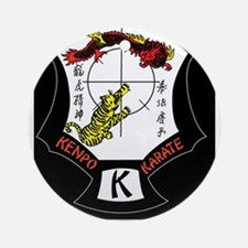 Kenpo Karate Crest Round Ornament