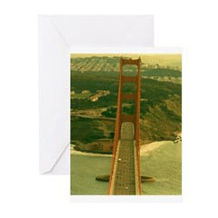 AFTM View From Top Of GG Brid Greeting Cards (Pk o