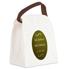 SHE BELIEVED Canvas Lunch Bag