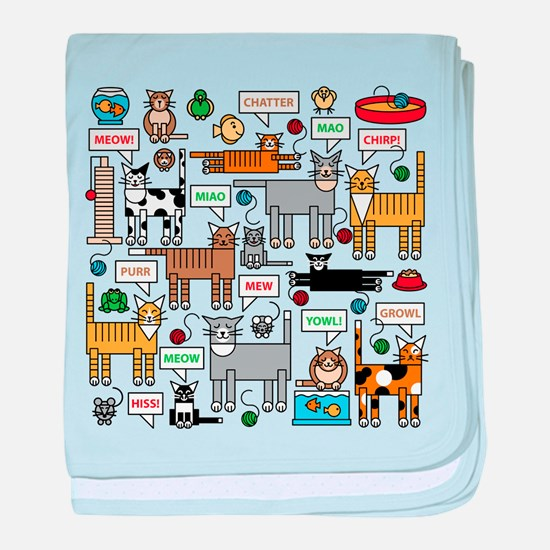 What Cats Say baby blanket