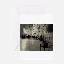 Western Wall Greeting Cards