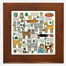 What Cats Say Framed Tile