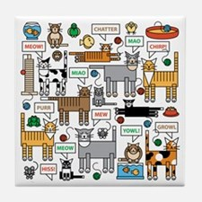 What Cats Say Tile Coaster