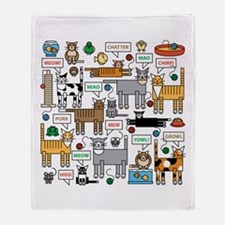 What Cats Say Throw Blanket