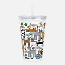 What Cats Say Acrylic Double-Wall Tumbler