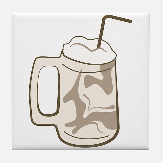 Root Beer Float Tile Coaster