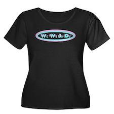 Retro Chic WWJD Women's Plus Size Dark T-Shirt