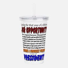 Presidential Humor Acrylic Double-wall Tumbler