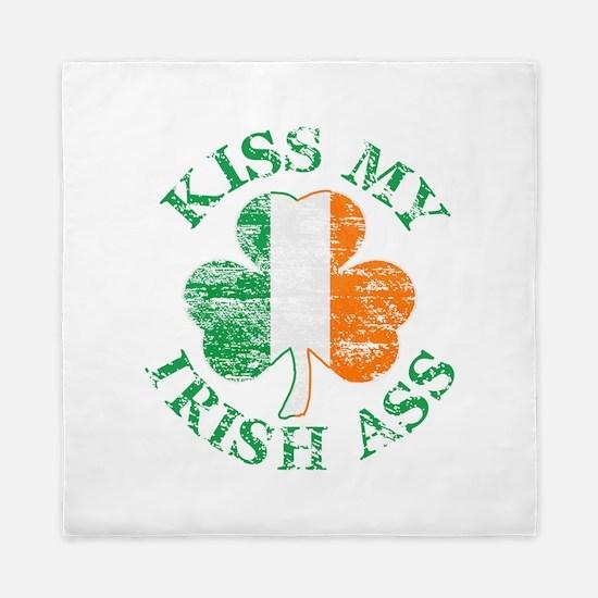 Kiss My Irish Ass Queen Duvet
