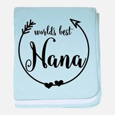 World's Best Nana baby blanket