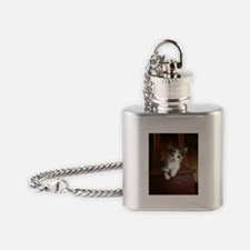 Adorable Calico Kitten Flask Necklace
