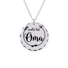 World's Best Oma Necklace Circle Charm