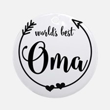World's Best Oma Round Ornament