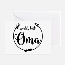 World's Best Oma Greeting Card