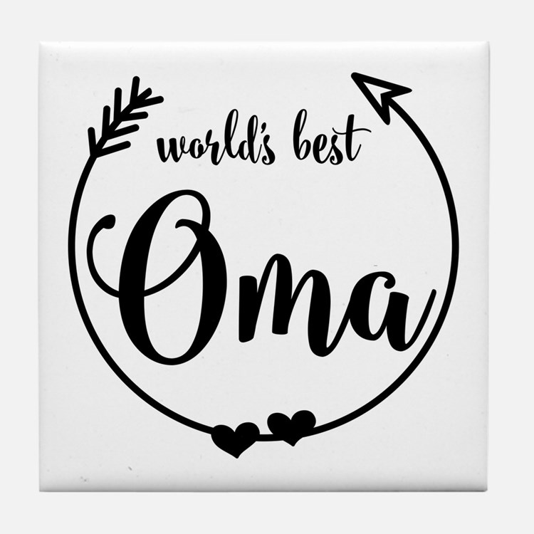 World's Best Oma Tile Coaster