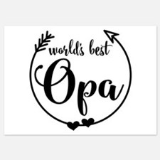 World's Best Opa Invitations