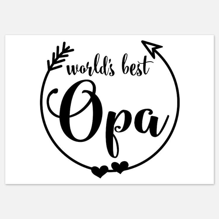 World's Best Opa Invitations